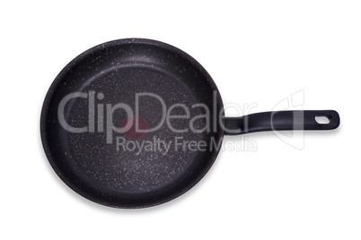 empty black large round pan with handle