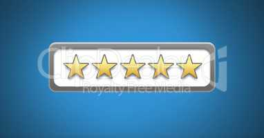 five star review ratings bar