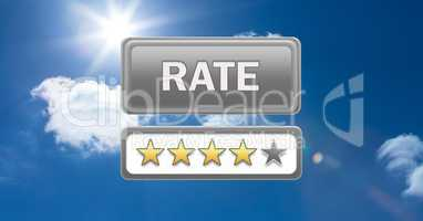 rate button and review stars in sky
