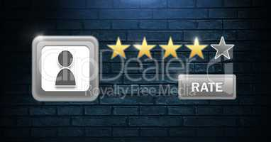 Rate and review stars user