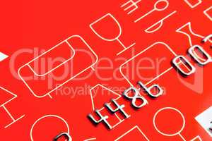 Detail of red credit card