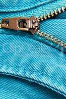 Jeans zipper.