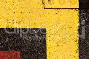 Painted asphalt.
