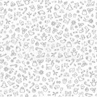 Christmas background, Happy Winter Holiday seamless tiling for w