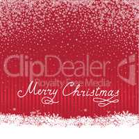 Christmas snowfall background with handwritten greeting letterin