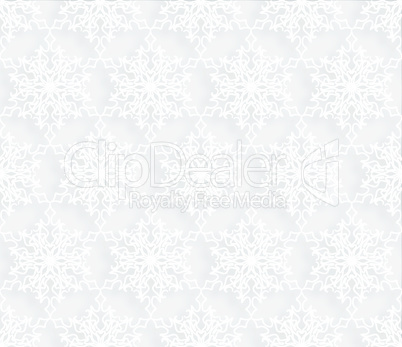 Ornamental Lacy Regular Oriental Ornament. Snow seamless pattern