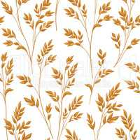 Floral pattern with leaves. Ornamental seamless background. Natu