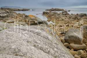 Küstenlandschaft bei O Grove, Galizien, Spanien