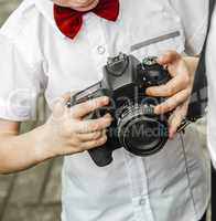 the child with camera