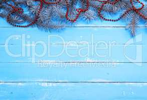 blue wooden background of parallel boards