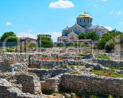 building Vladimir Cathedral Chersonese Tavricheskiy, Crimea Ukra