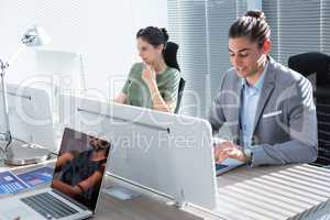 Executives working in the office