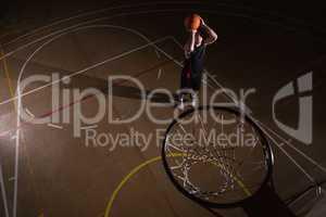 Player playing basketball