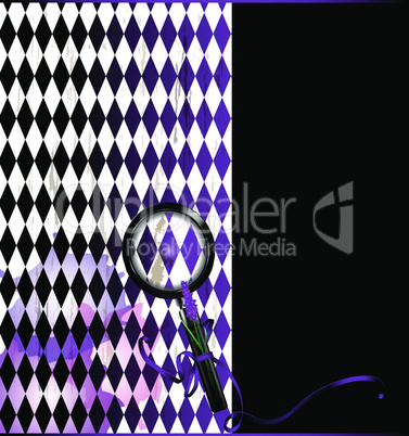 purple white with magnifier glass