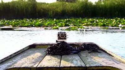 Boat Ride At The Lake With Camera Recording
