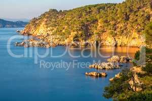 Nice landscape of the Spanish coastal in Costa Brava