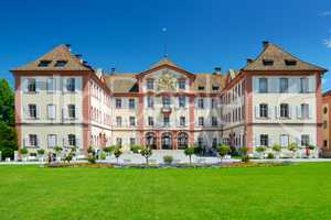 Germany - July 10, 2012: Old palace on Mainau island. Editorial.