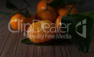 Juicy tangerines. Still life.