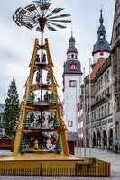 Chemnitz Christmas market with pyramid