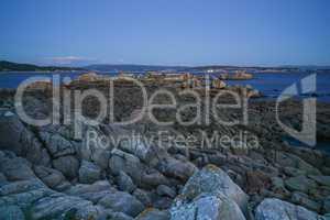 Küstenlandschaft bei O Grove, Galicien, Spanien