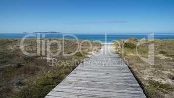 Beach close to O Grove, Galicia, Spain