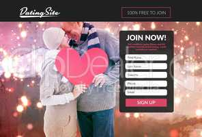 Subscription form on dating site
