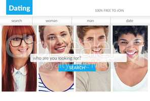 Search bar on dating site