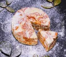 round dessert cheesecake with pumpkin