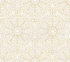 Abstract floral line oriental tile pattern. Arabic ornament