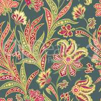Flower tile pattern. Floral oriental ethnic background. Arabic o