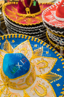 Variety of Sombreros On Sale By Local Mexico Vendors