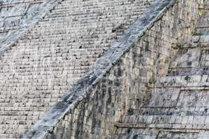 Abstract of the Steps of the Mayan El Castillo Pyramid at the Ar