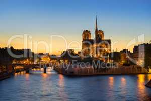 Notre Dame night