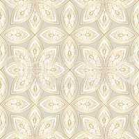 Abstract floral oriental pattern. Swirl line flower ornament