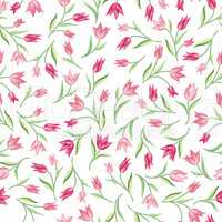 Floral seamless pattern. Flower background. Spring texture