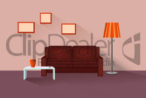 Home lounge interior. Living room furniture with sofa