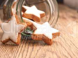 Cinnamon star shaped cookies