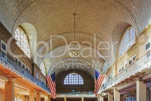 The Great Registry Hall of the Ellis Island Immigration Museum