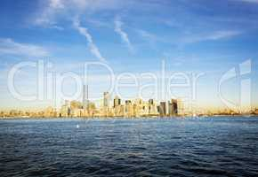 New York skyline in a bright day