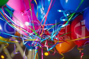 helium colorful decorated balloons for happy celebrations party