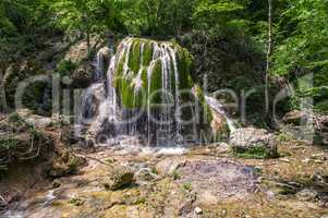 Waterfall Silver streams in Crimea Ukraine