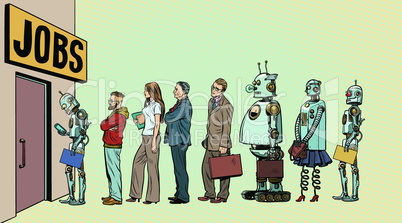 competition of people and robots for jobs