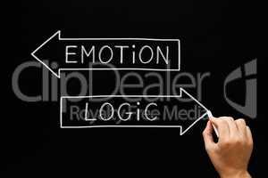 Emotion Logic Arrows Concept Blackboard