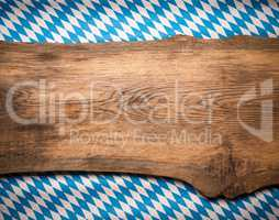 Wooden plank with the Bavarian flag