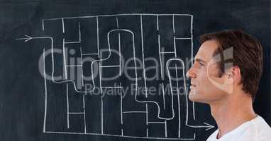 Man maze background