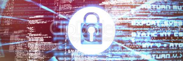 Composite image of lock icon vector
