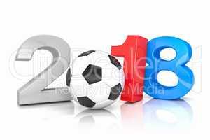 3d render - russia 2018 - soccer - football - ball