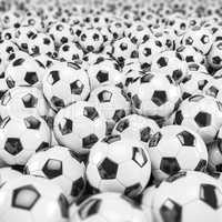 3d render - soccer balls