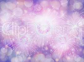 Blue and Purple texture gradient background bokeh and firework e