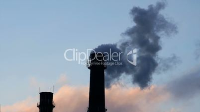 Industrial tube chimney smoke